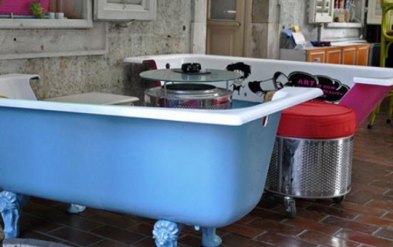Tinas De Baño Viejas:Desde tinas viejas de baño hasta rollos de papel Reciclar todo