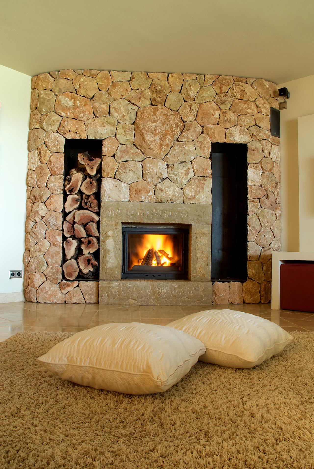 Diversos estilos y combinaciones de colores para decorar la casa lifestyle de am ricaeconom a - Chimeneas de piedra ...