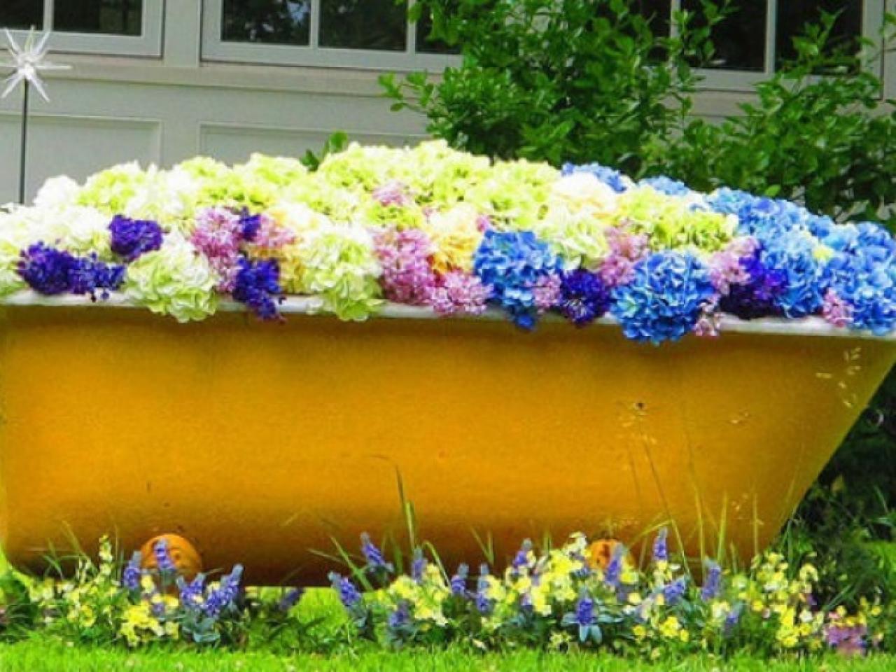 Tinas De Baño Viejas:ideas para decorar el hogar con elementos reciclados